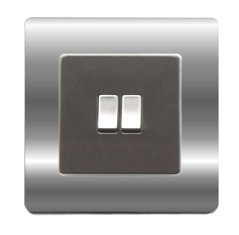 Light Switch Cover Plate Conversion Single Victorian Chrome: Amazon ...