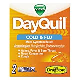 lil drugstore cold relief - DayQuil 97047 Severe Cold & Flu Caplets, Daytime, Refill Pack, 2 Caplets/Packet, 20 Packs/Box