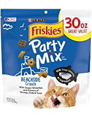Purina Friskies Made in USA Facilities Cat Treats, Party Mix Beachside Crunch - 30 oz. Pouch