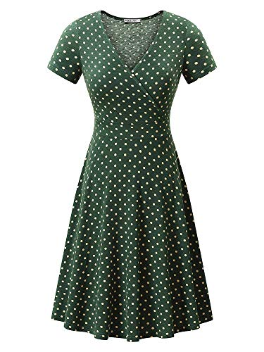 MSBASIC Tshirt Dress Polka Dot Dress for Women Poka Dot XL