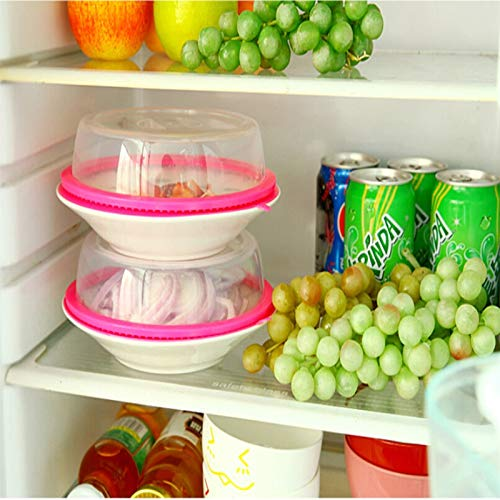 Saran Wrap & Plastic Bags - 1pc Sealing Cover Stacked Freezer Fresh Lid Crisper Microwave Oven Oil Cap Lids Refrigerator Plate - Wall Renegade Clear Plastic Guard Covers Room Anti ()