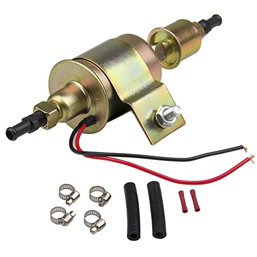 CarBole High Performance Universal Electric Fuel Pump Self- primming Transfer Pumps 5/16 inch, 5-9 Psi, 20-30 GPH Number E8012S, FD0002, P60430, EP12S, 6414671-2 Wire Design by CarBole