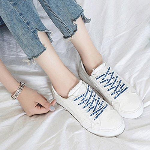 Versione Nuovo Sandales Estiva Stoffa di Stagione Stile Bianche Scarpe Stagione Blu Coreana Primaverile Tela Selvaggio Scarpe Scarpe di Studente dxqH0frwx