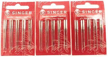 Singer Agujas para máquina de coser 2020, banda roja tamaño 11/80 ...