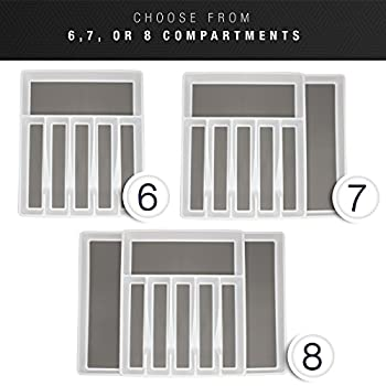 Sorbus Flatware Drawer Organizer, Expandable Cutlery Drawer Trays For Silverware, Serving Utensils, Multi-purpose Storage For Kitchen, Office, Bathroom Supplies (Cutlery Drawer Organizer - White) 6