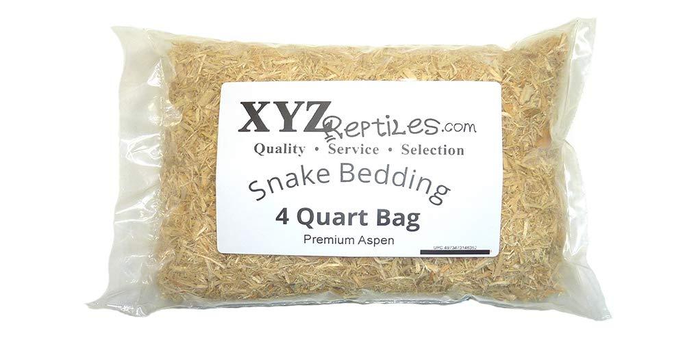 xyzReptiles Premium Aspen Snake Bedding Reptile Bedding Terrarium Bedding 4 Quart Bag