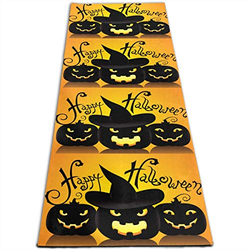 GONGHE Staying Spooky Happy and Healthy On Halloween Gymnastics Mat Yoga Mat Exercise Mat One Size