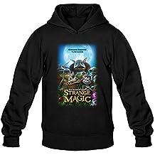 Men's Fantasy Animated Strange Magic Poster Hoodie Black Large