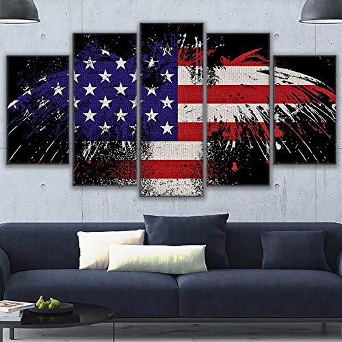 Grace Painter 5D Diamond Painting,Counted Cross Stitch,Rhinestone Painting,American Flag,Paint by Numbers for Kids Art and Craft for Wall Decor,Home Decor by Grace Painter (Image #4)