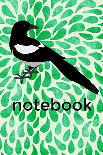 Notebook: Magpie Homework Book Notepad Notebook Composition and Journal Diary por Retrosun Designs