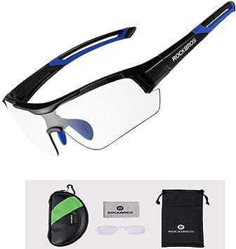 ROCKBROS Gafas de Sol Fotocromáticas Lentes Transparentes con Protección UV400 Ultraligero para Ciclismo Running Deportes al Aire Libre para Hombre y Mujer: Amazon.es: Deportes y aire libre