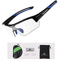 ROCKBROS Gafas de Sol Fotocromáticas Lentes Transparentes con Protección UV400 Ultraligero para Ciclismo Running…