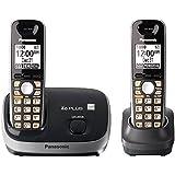 Panasonic KX-TG6512B Dect 6.0+CID 2 HS Cordless Black