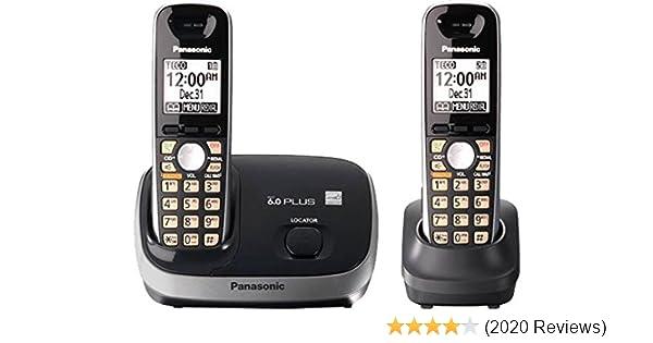 Best Cordless Phones 2020 Amazon.: Panasonic Dect 6.0+ CID 2 HS Rubber Grip HSSP Smart