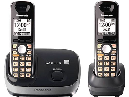 Panasonic Dect 6.0+ CID 2 HS Rubber Grip HSSP Smart Wall-mount White backlit LCD on handset