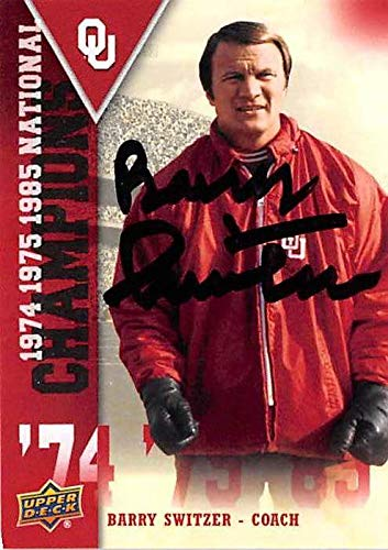 (Barry Switzer autographed Football Card (Oklahoma Sooners Coach) 2011 Upper Deck National Champions)