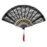 Best Bristol Novelty Fans - Bristol Novelty BA841 Fan Black Lace Spanish, Womens Review