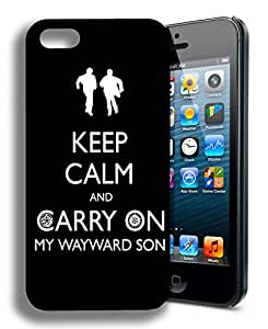 Sanstyle Keep Calm and Carry on Supernatural Dean and Sam Running Iphone 5 and 5s Case