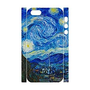 wugdiy DIY 3D Case Cover for iPhone 5,5S with Customized Vincent van Gogh