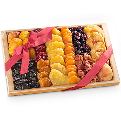 Christmas Dried Fruit Tray Gift with Cherries