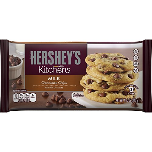 HERSHEY'S Kitchens Baking Chips, Milk Chocolate Chips, Gluten-Free, 11.5 Ounce Bag ()