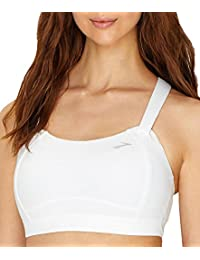 Brooks Women's Juno Sports Bra (40C, (100) White)