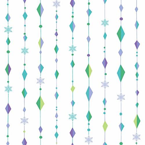- York Wallcoverings Kids III Disney Frozen Snowflake Diamond Removable Wallpaper, Whites