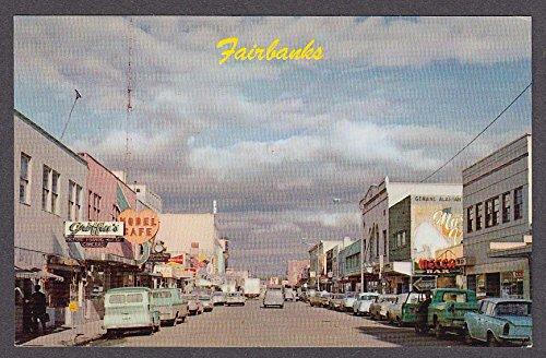 (Griffin's Model Café Mecca Bar Budweiser Fairbanks AK postcard 1960s)