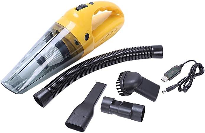 Aspirador de automóvil 12V120W Carga USB Aspirador portátil de mano Aspirador húmedo y seco Aspirador portátil de automóvil: Amazon.es: Hogar