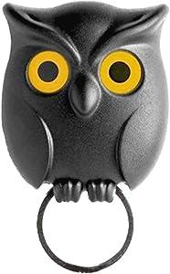 Key Holder, Owl Shape Magnetic Organizer Hook - Wall Mounted Keychain Hanger - Novelty Friendship Charm Key Hanging Ring - for Home Decor Show