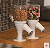Snack Spout Dry Food, Candy, & Cereal Dispenser for Nut & Candy Jars - Germ Free Snacking and Portion Control, GREY