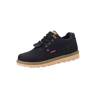 e50150b8ca437e Herren Stiefel Btruely Sportschuhe Männer Martens Stiefel Freizeitschuhe  Leder Niedrige Schuhe Junge Wanderstiefel Werkzeuge Schuhe (