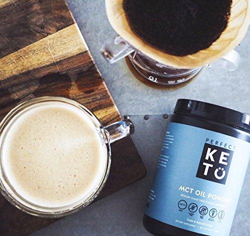 Perfect Keto MCT Oil Powder: Vanilla Ketosis Supplement (Medium Chain Triglycerides - Coconuts) for Ketone Energy - Paleo Natural Non Dairy Ketogenic Keto Coffee Creamer by Perfect Keto (Image #4)