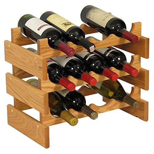 Wooden Mallet 12 Bottle Dakota Wine Rack, Light Oak by Wooden Mallet (Image #1)