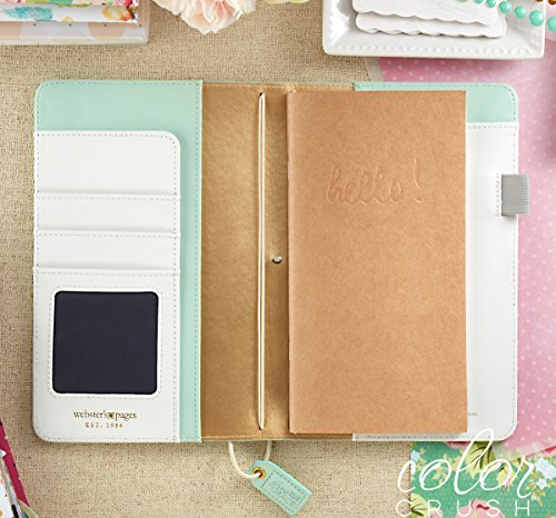 Webster's Pages Mint Floral Travelers Planner (TJ001-MF) Photo #1