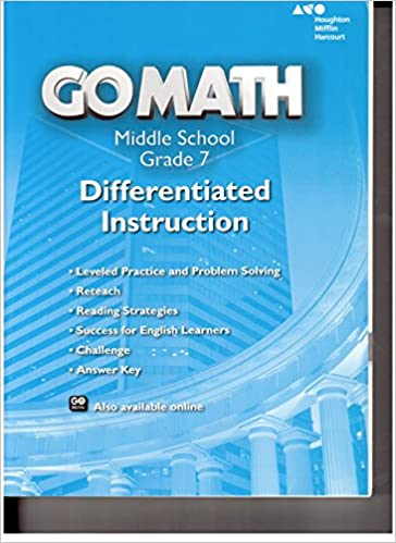 Go Math!: Differentiated Instruction Resource Grade 7: HOLT ...