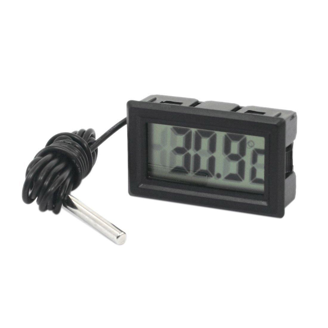Thermometer mit Sonde und Timer schwarz