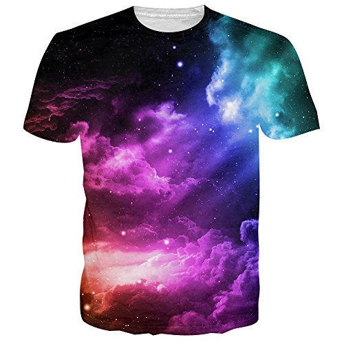 RAISEVERN Unisex Casual 3d Pattern Printed Summer Short Sleeve T-Shirts Tees