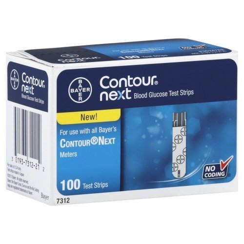 Give fast and accurate results within 5-second - Bayer Contour Next Blood Glucose Test Strips, 100 Ea