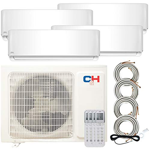 Quad 4 Zone 12000 12000 12000 12000 Ductless Heating and Cooling Mini Split Ductless Air Conditioner Heat Pump System
