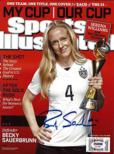 Becky Sauerbrunn Autographed Sports Illustrated Magazine Team USA ITP Stock #101461 PSA/DNA Certified