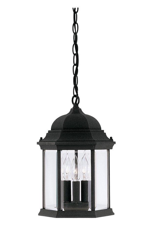 Designers Fountain 2984 Bk Devonshire Hanging Lanterns Black Pendant Porch Lights Amazon Com