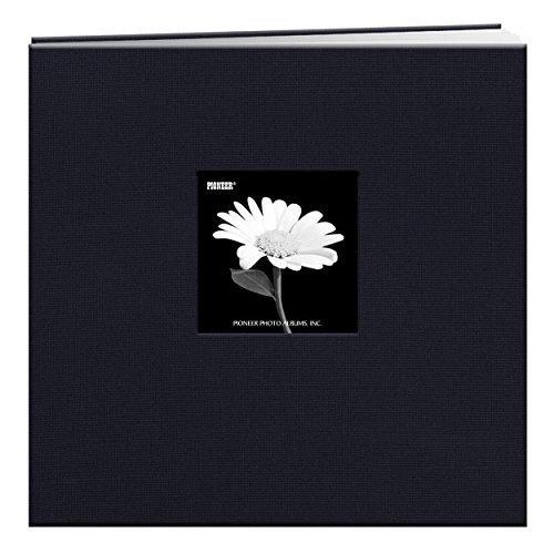 Pioneer 12-Inch by 12-Inch Book Cloth Cover Postbound Album with Window, Regal Navy - Cloth Album