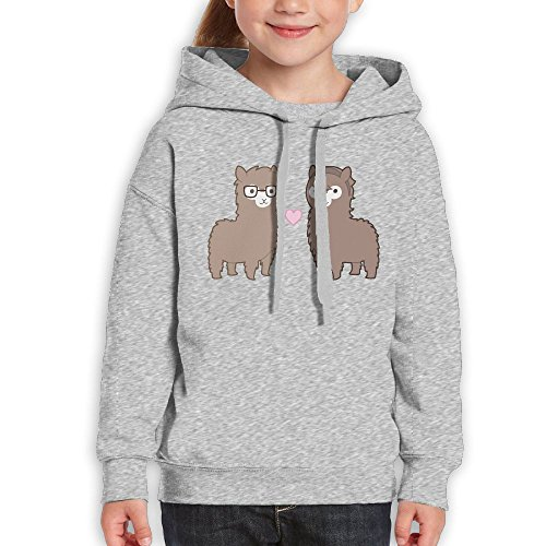 Teenagers Alpaca Couples Teen Hoodies Ash Pullover Hooded Youngsters Sweatshirt With Boys (Stanford Basketball Rugs)