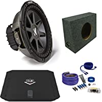 Kicker CVR122 12 Truck Bundle with DUBA2100 200 Watt Amplifier + Enclosure + Wire Kit