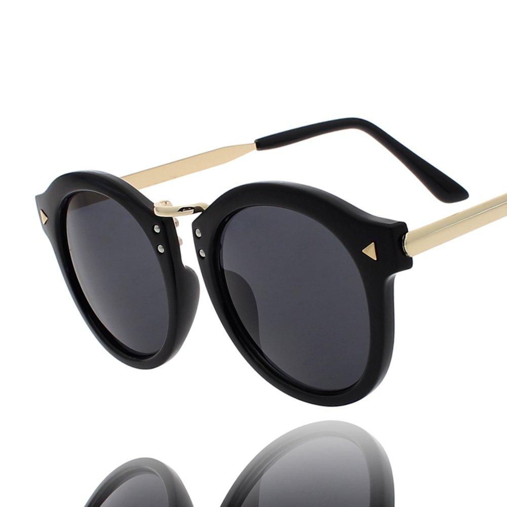 Kreis Rahmen Sonnenbrillen/Nieten schwarz umrandeten Sonnenbrillen ...