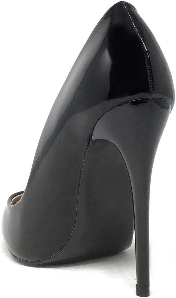 Zapatillas Moda Tac/ón escarp/ín Stiletto Decollete Mujer Tac/ón de Aguja Alto 8.5 CM Angkorly