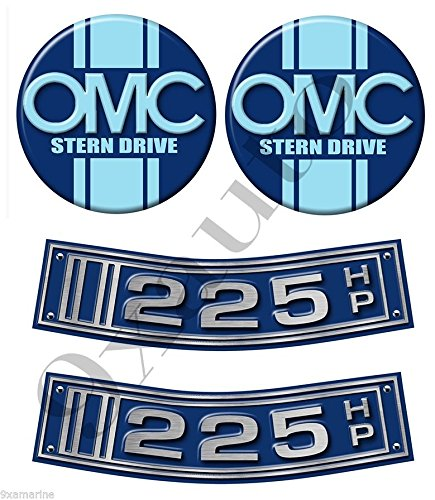 Omc Stringer Stern Drive (OMC Stringer Stern Drive Two Curved Decal/Sticker Set)