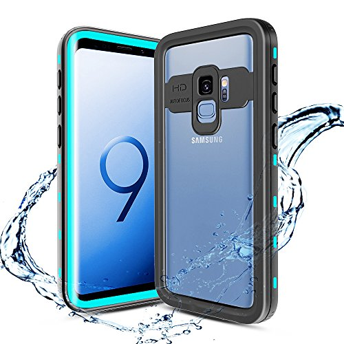 XBK Waterproof Case for Samsung S9, Full-Body Rugged Waterproof Shockproof Protective Bumper Case for Samsung Galaxy S9 2018 Release (5.8 Inch,Teal)