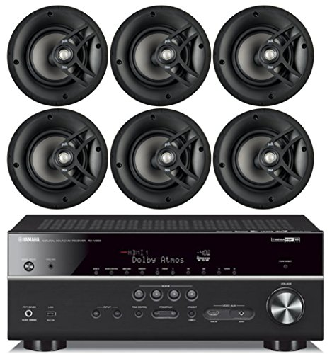 Yamaha 7.2-Channel Wireless Bluetooth 4K Network A/V Wi-Fi Home Theater Receiver + Polk 8